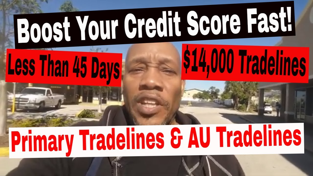 Boost your credit score fast within 45 days or less.