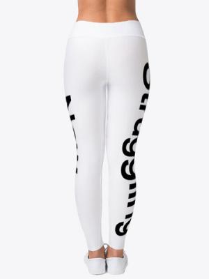 White SSN Yoga Pants
