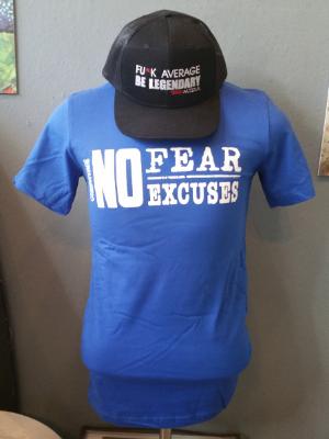 Grey No Fear T-Shirt